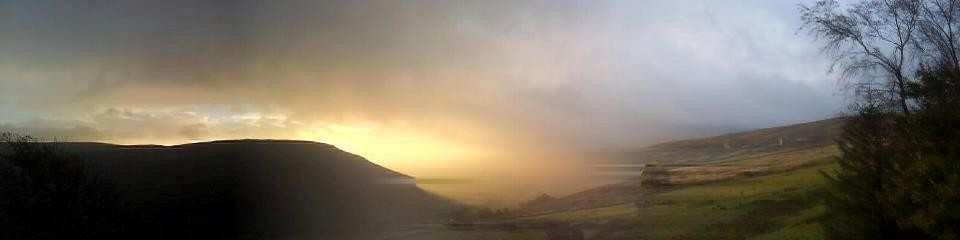 Stunning panorama from Swaledale House - Kirsty Hall at Swaledale Country Holidays