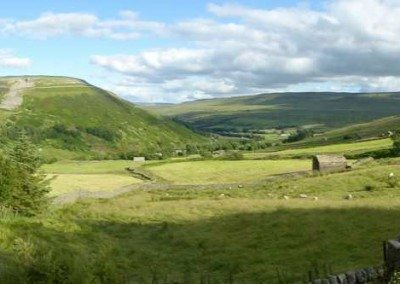 The stunning view from Swaledale House - Ann Faithfull at Swaledale Country Holidays