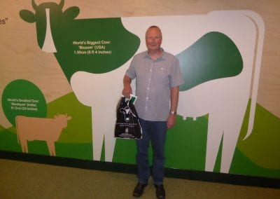 Chris at the Wensleydale Creamery visitor centre