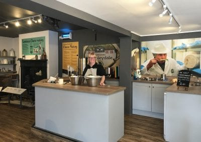 Cheese demonstrations at Wensleydale Creamery