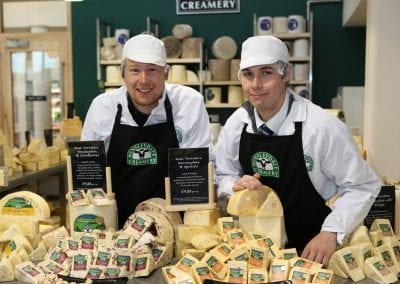 Expert cheesemakers in the tasting room